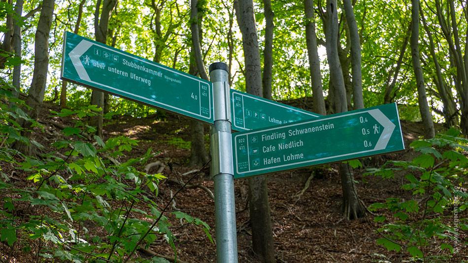 Hochuferweg zum Findling Schwanenstein