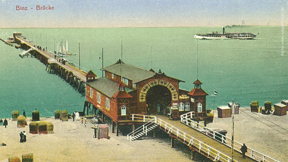 Die Binzer Seebrücke im Jahr1902