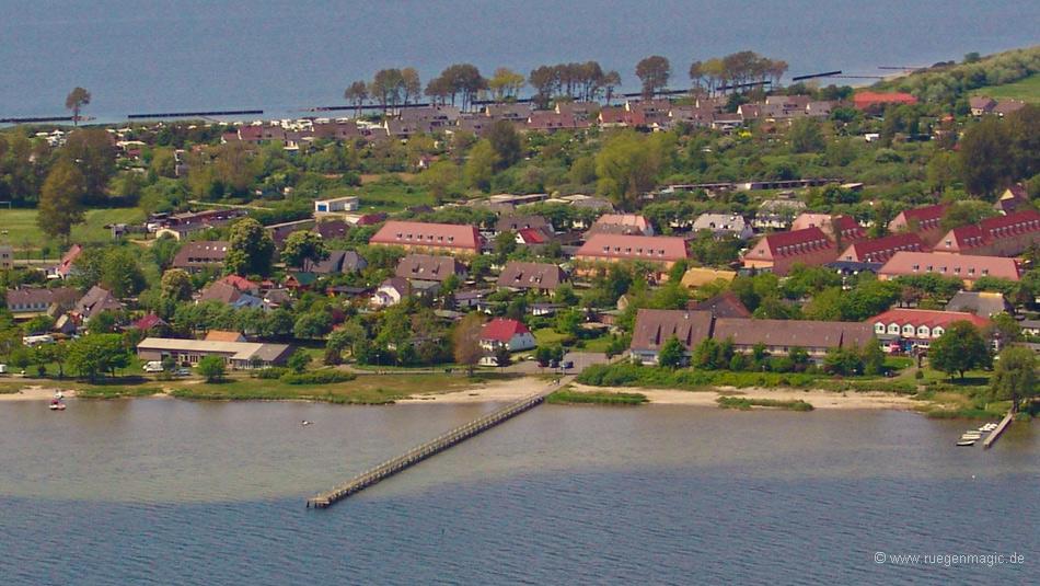 Luftaufnahme der Seebrücke Dranske (2005)