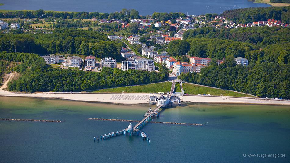 Luftaufnahme der Selliner Seebrücke