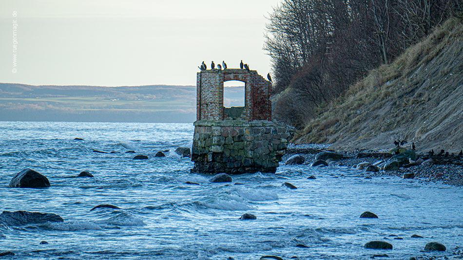 Ruine des früheren Pegelhauses