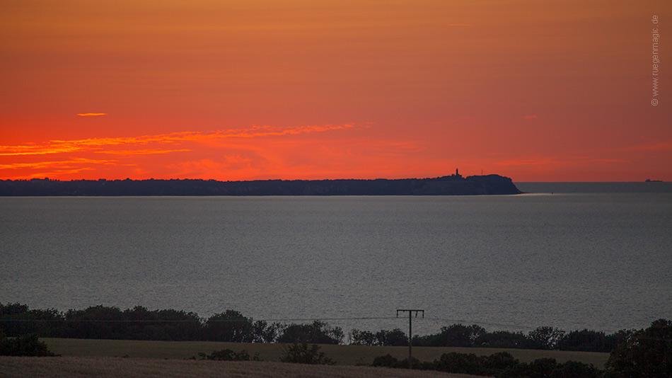 Sonnenuntergang über dem Kap Arkona