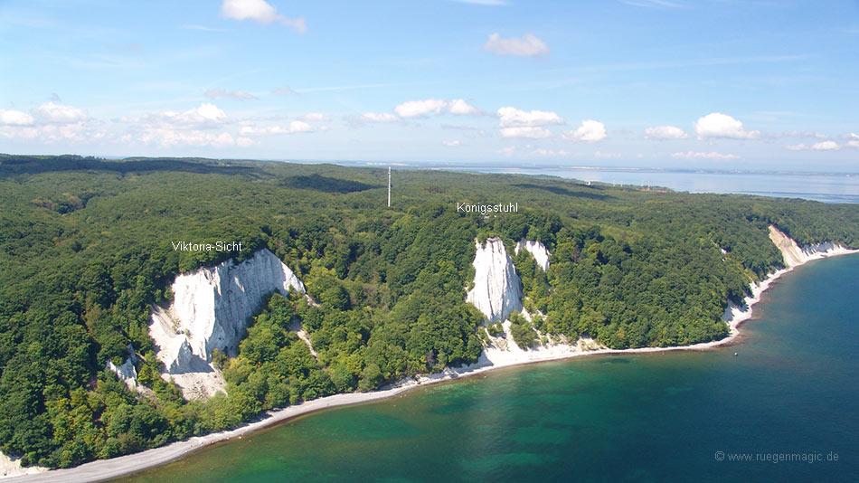 Luftaufnahme Viktoria-Sicht & Königsstuhl