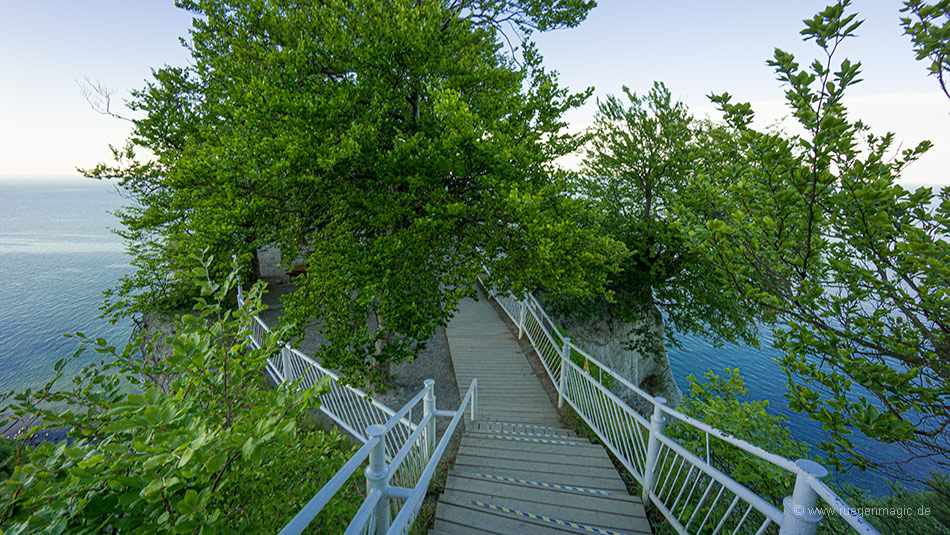 Zugang zur Besucherplattform des Königsstuhls