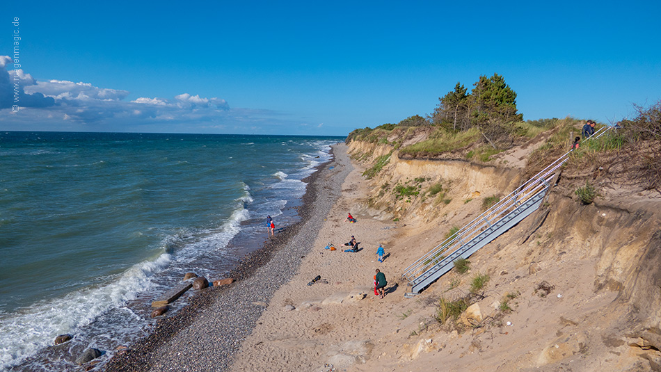 Neue Treppe am Strand Kreptitzer Heide