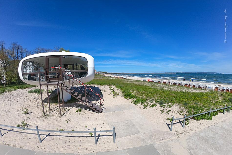 Strandblick am Rettungsturm
