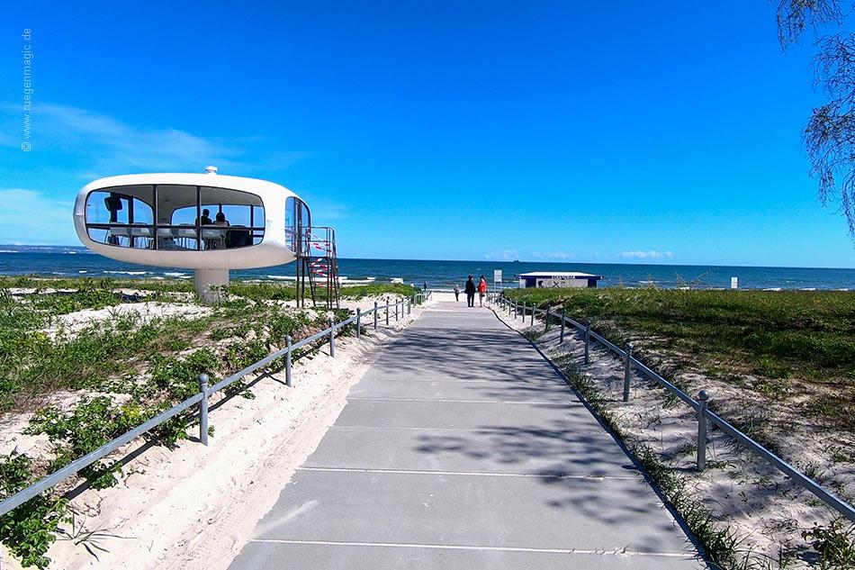 Strandzugang am ehemaligen Rettungsturm