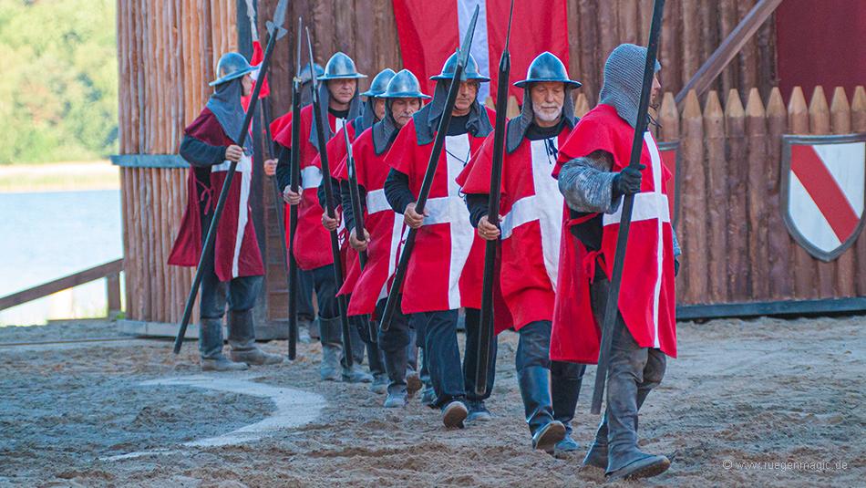 Dänische Armee im Anmarsch