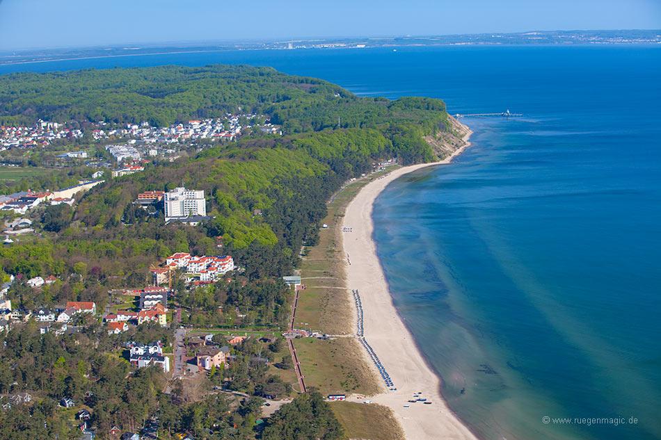 Blick auf den Strand des Ostseebades Baabe