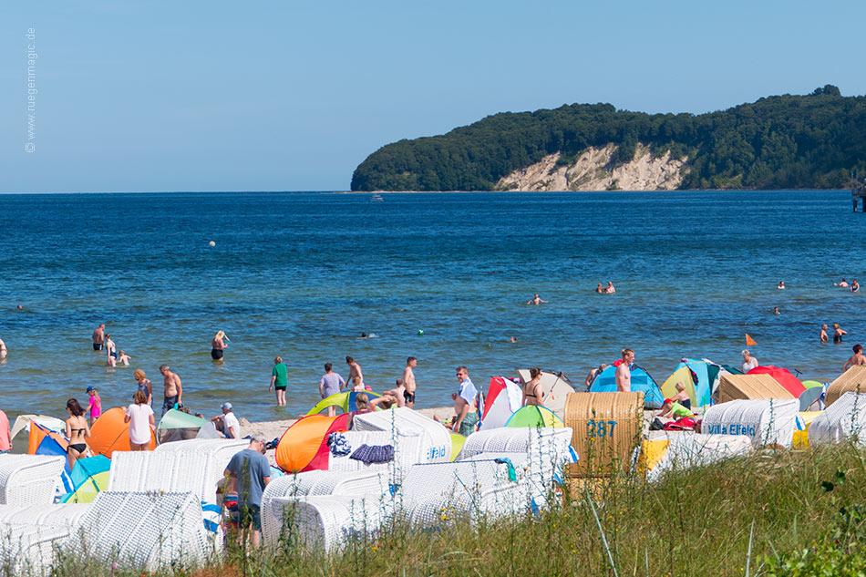 Strandleben am Ostseestrand Binz