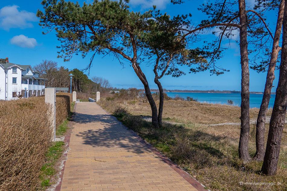Die Promenade an der Schaabe in Juliusruh