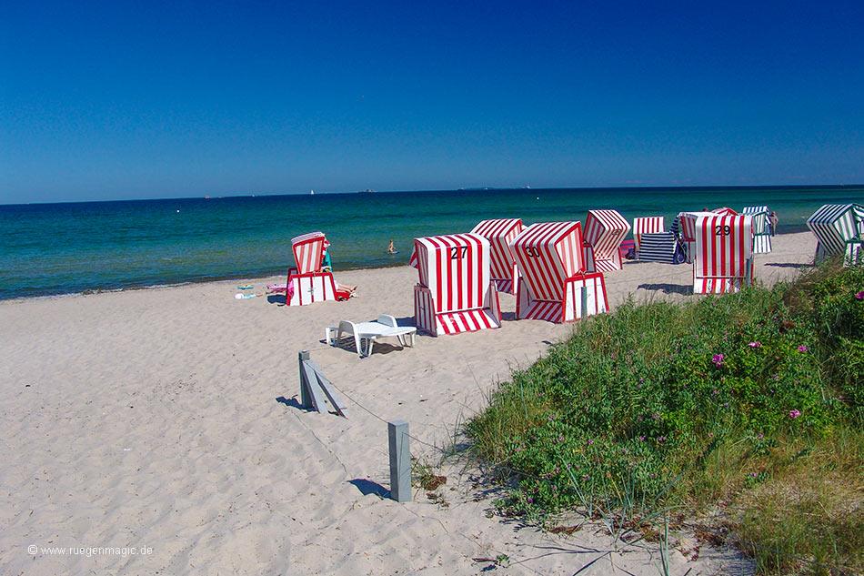 Ostseestrand Thiessow - Strandkörbe