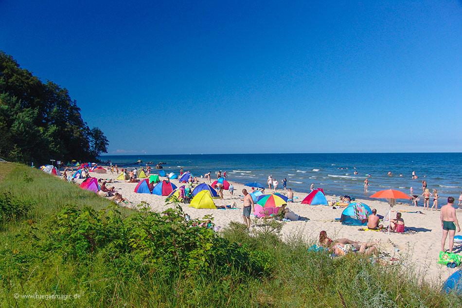 Südstrand Sellin - Blick über den Strand