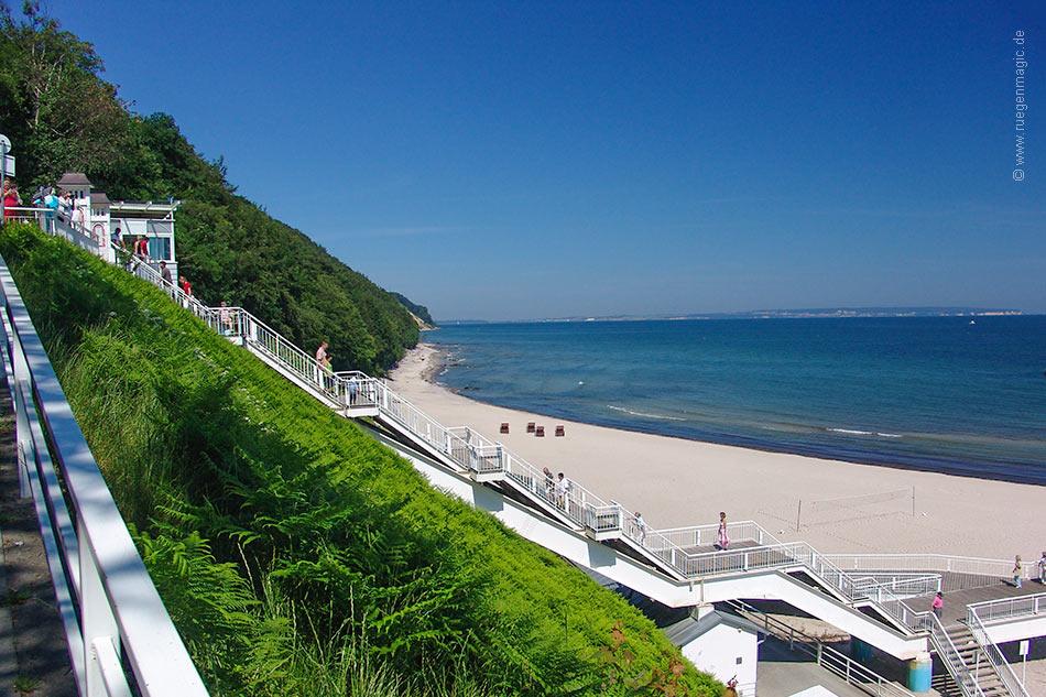 Nordstrand Sellin - Treppe zum Strand