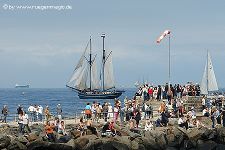 Holländischer 2-Master auf der Ostsee vor Warnemünde