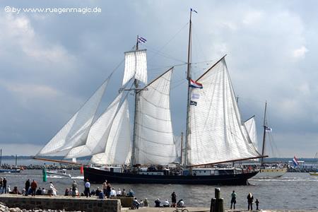 Der 62m lange holländische 2-Mast-Schoner Wylde Swan