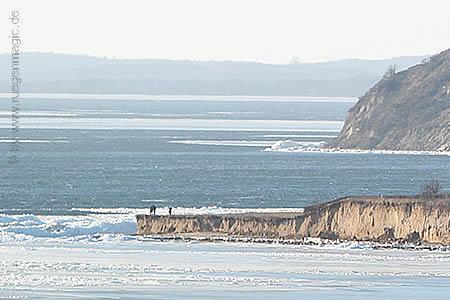 Eisschollen im März 2011 in Klein Zicker