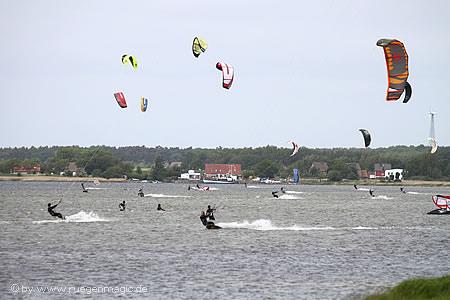 Kiten auf dem Wieker Bodden