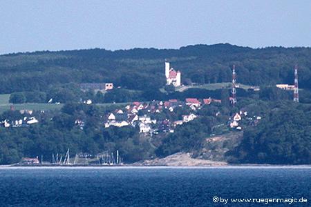Teleaufnahme von Lohme auf der Insel Rügen