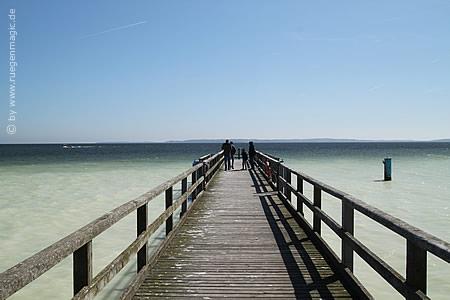 Auf der Seebrücke in Sassnitz