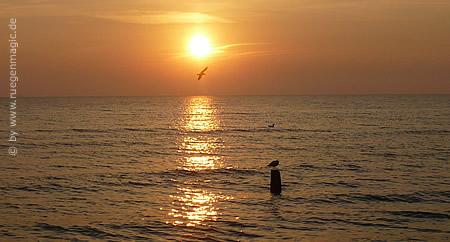 Sonnenaufgang am Ostseestrand Binz