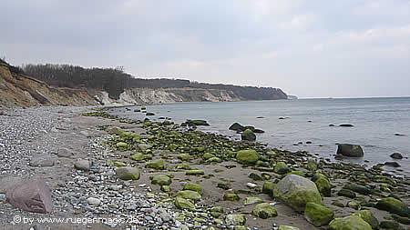 Strand unterhalb des Mukraner Hochufers
