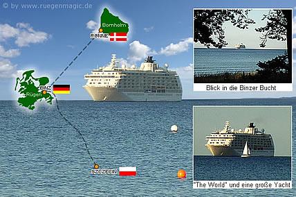 The World vor der Küste der Insel Rügen