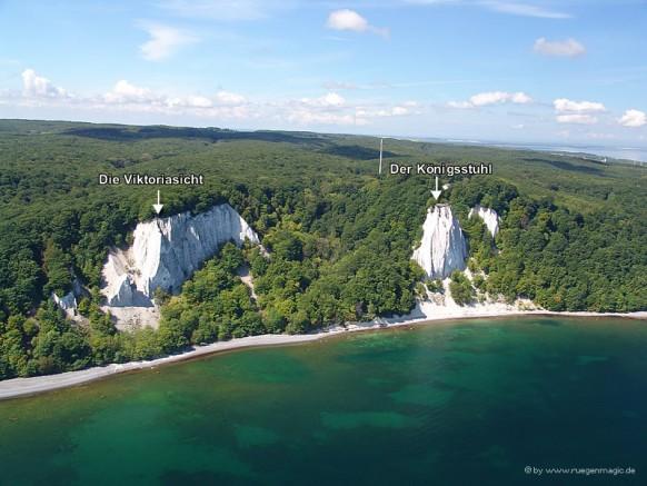 Die Kreideküste mit dem Königsstuhl auf der Insel Rügen