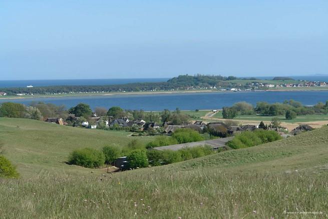 Blick vom Bakenberg auf der Halbinsel Mönchgut