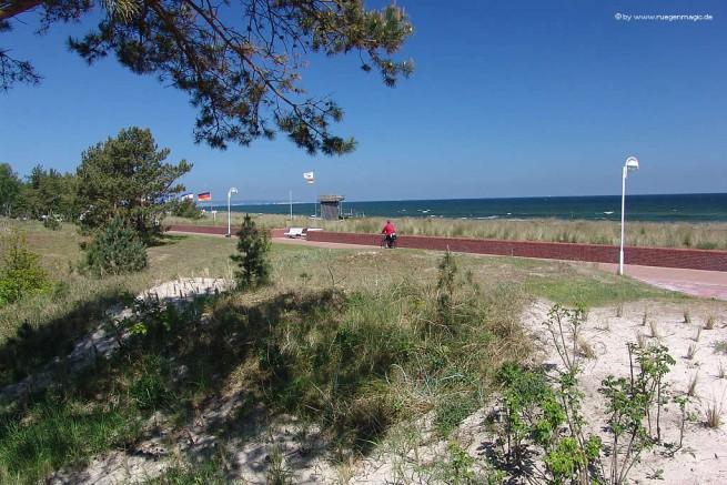Die Uferpromenade des Ostseebades Baabe