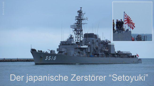 Einlaufen des japanischer Zerstörer Setoyuki auf der Hanse Sail 2016