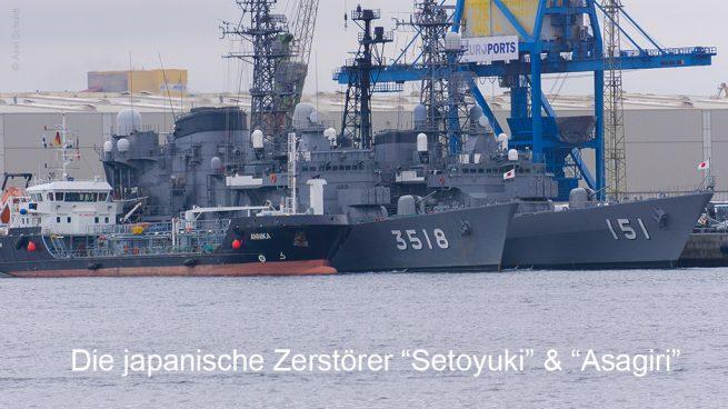 Liegeplatz der Setoyuki und Asagiri im Hochseehafen Rostock