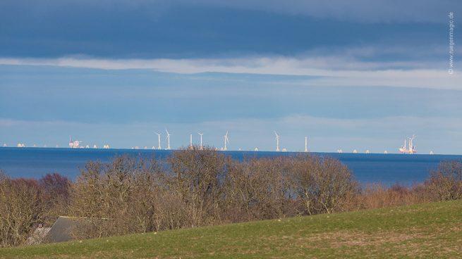 Der Wikinger Windpark vor Rügen