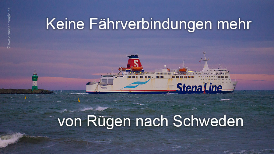 Fährverbindung Rügen Schweden eingestellt
