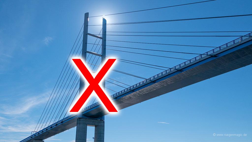 Rügenbrücke gesperrt