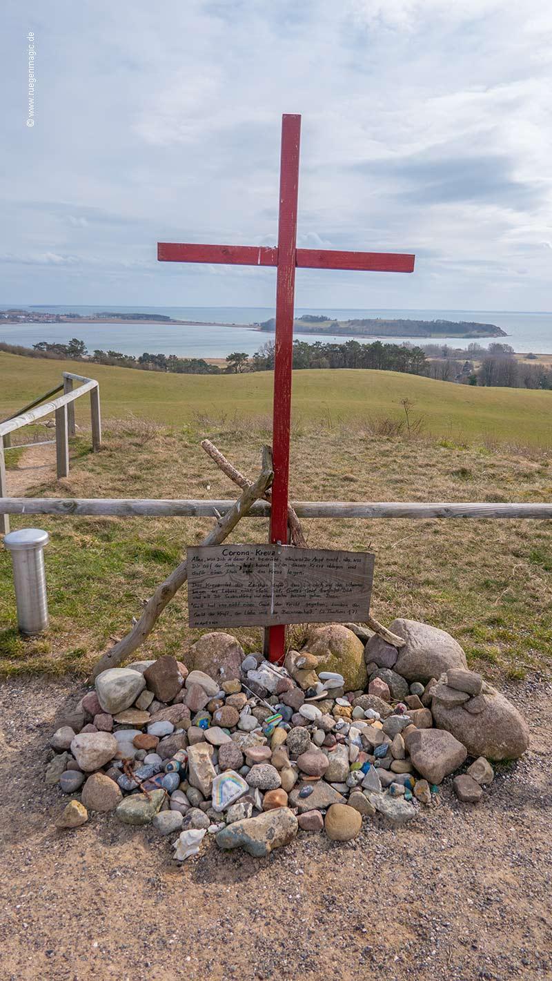 Das Corona-Kreuz auf der Insel Rügen