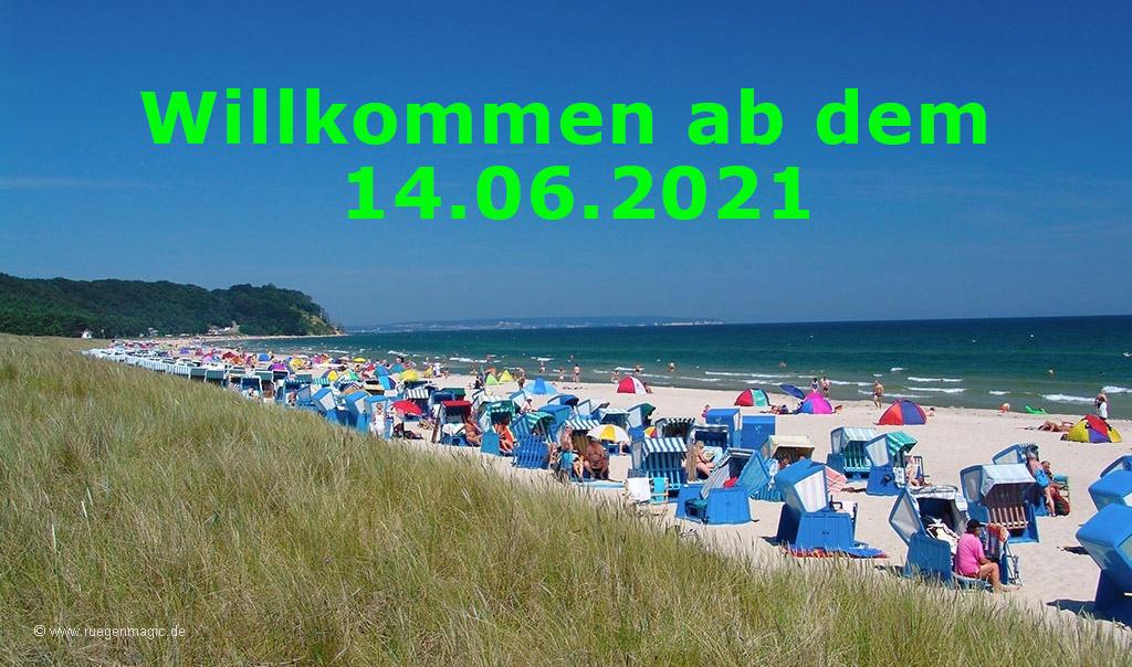 Willkommen ab den 14.06.2021 in Mecklenburg Vorpommern