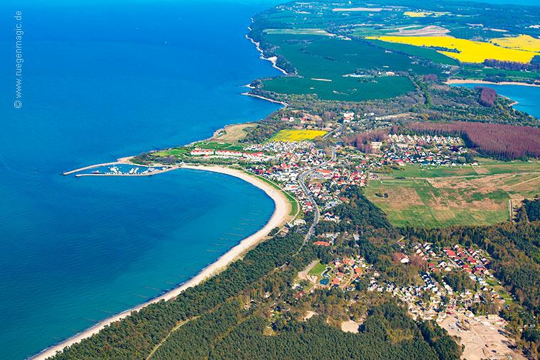 Luftaufnahmen von Glowe auf der Insel Rügen  Luftaufnahmen v...